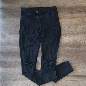 Topshop Leigh Ripped Knee Jeans